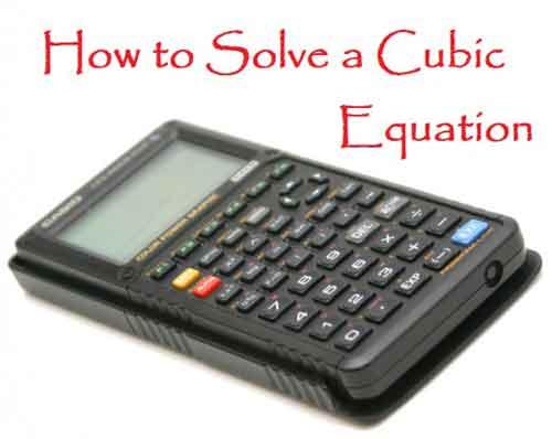 cubic-equation