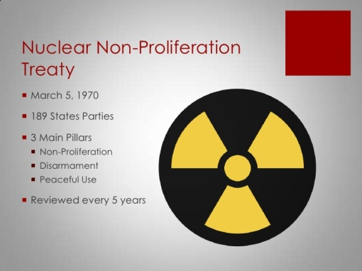 nuclear non proliferation treaty The global nuclear non-proliferation regime, as it has evolved since the entry into force of the nuclear non-proliferation treaty (npt) in 1970, has been remarkably resilient.